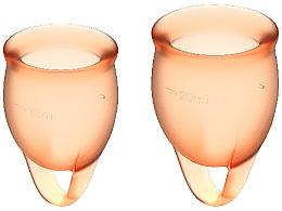 Kup Zestaw kubeczków menstruacyjnych, pomarańczowy - Satisfyer Feel Confident Menstrual Cups Orange