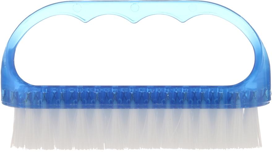 Szczoteczka kosmetyczna do paznokci, 74752, niebieska - Top Choice — фото N1