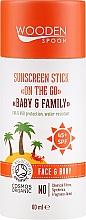 Kup Przeciwsłoneczny sztyft do twarzy i ciała dla całej rodziny SPF 45+ - Wooden Spoon Sunscreen Stick On The Go SPF 45