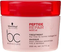 Kup Rewitalizująca maska do cienkich i normalnych włosów zniszczonych - Schwarzkopf Professional BC Bonacure Peptide Repair Rescue Treatment Mask