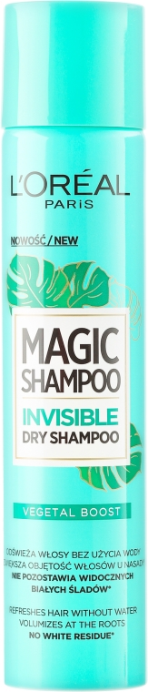 Suchy szampon do włosów - L'Oreal Paris Magic Shampoo Invisible Dry Shampoo Vegetal Boost