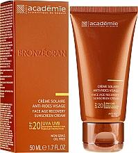 Kup Przeciwsłoneczny krem regenerujący (SPF 20) - Academie Bronzecran Face Age Recovery Sunscreen Cream