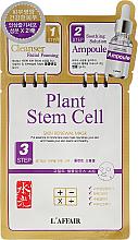 Kup PRZECENA! 3-etapowa maska rewitalizująca na tkaninie do twarzy - Rainbow L'Affair Plant Stem Cell 3-Step Skin Renewal Mask *