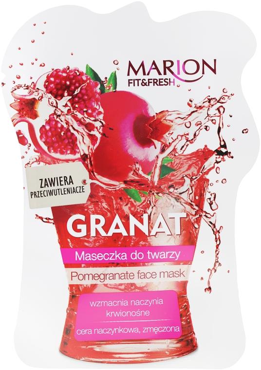 Maseczka do twarzy Granat - Marion Fit & Fresh Pomegranate Face Mask
