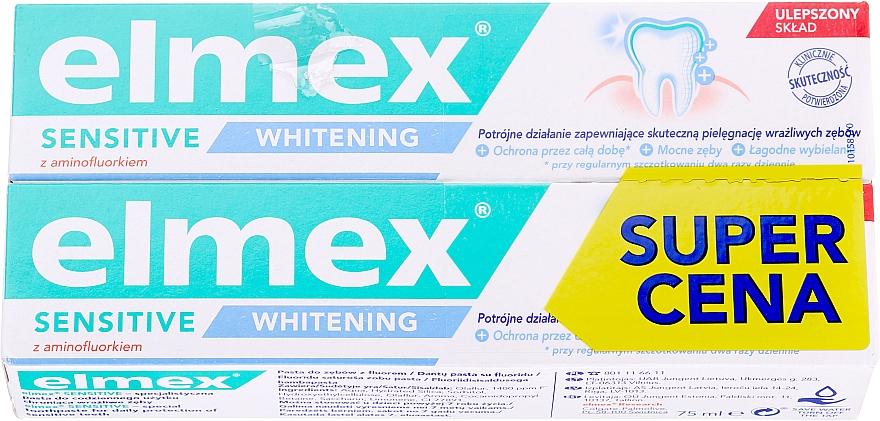 Zestaw - Elmex Sensitive Whitening Toothpaste (toothpaste/2x75ml)