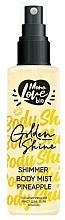Kup Ananasowa mgiełka do ciała ze świecącymi drobinkami - MonoLove Bio Shimmer Body Mist Pineapple Golden Shine