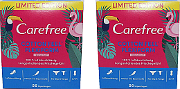 Kup Wkładki higieniczne 2x56 szt - Carefree Cotton Feel Flexiform