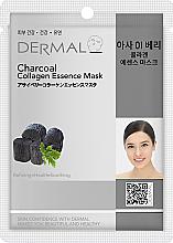 Kup Kolagenowa esencjonalna maseczka do twarzy Węgiel drzewny - Dermal Charcoal Collagen Essence Mask
