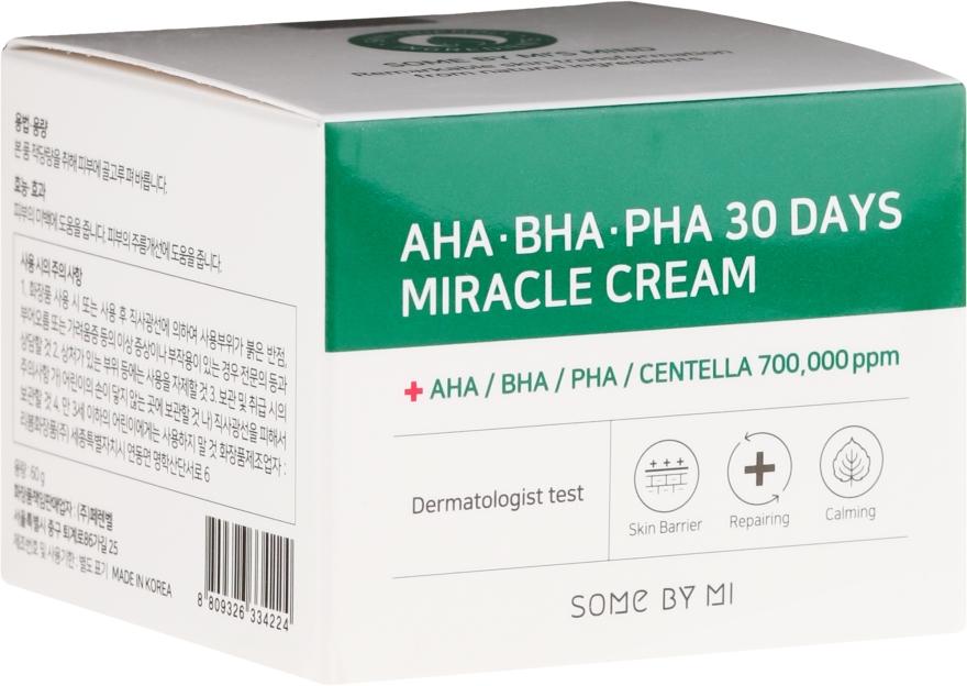 Nawilżający krem z kwasami do skóry trądzikowej - Some By Mi AHA/BHA/PHA 30 Days Miracle Cream