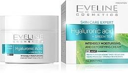 Kup Krem do twarzy z zieloną herbatą i kwasem hialuronowym - Eveline Cosmetics Skin Care Expert Hyaluronic Acid & Green Tea Cream