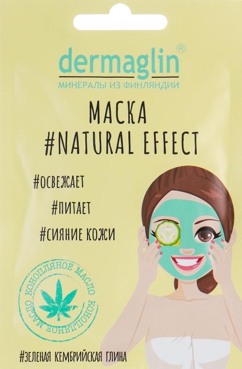 Odświeżająca maseczka do twarzy z zieloną glinką kambryjską - Dermaglin #Natural Effect