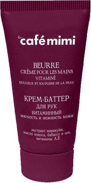 Witaminowe masło do rąk Miękkość i aksamitność skóry - Café Mimi Hand Cream Oil