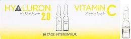Kup Ampułki z kwasem hialuronowym i witaminą C do twarzy - Alcina Hyaluron 2.0 & Vitamin C Ampulle