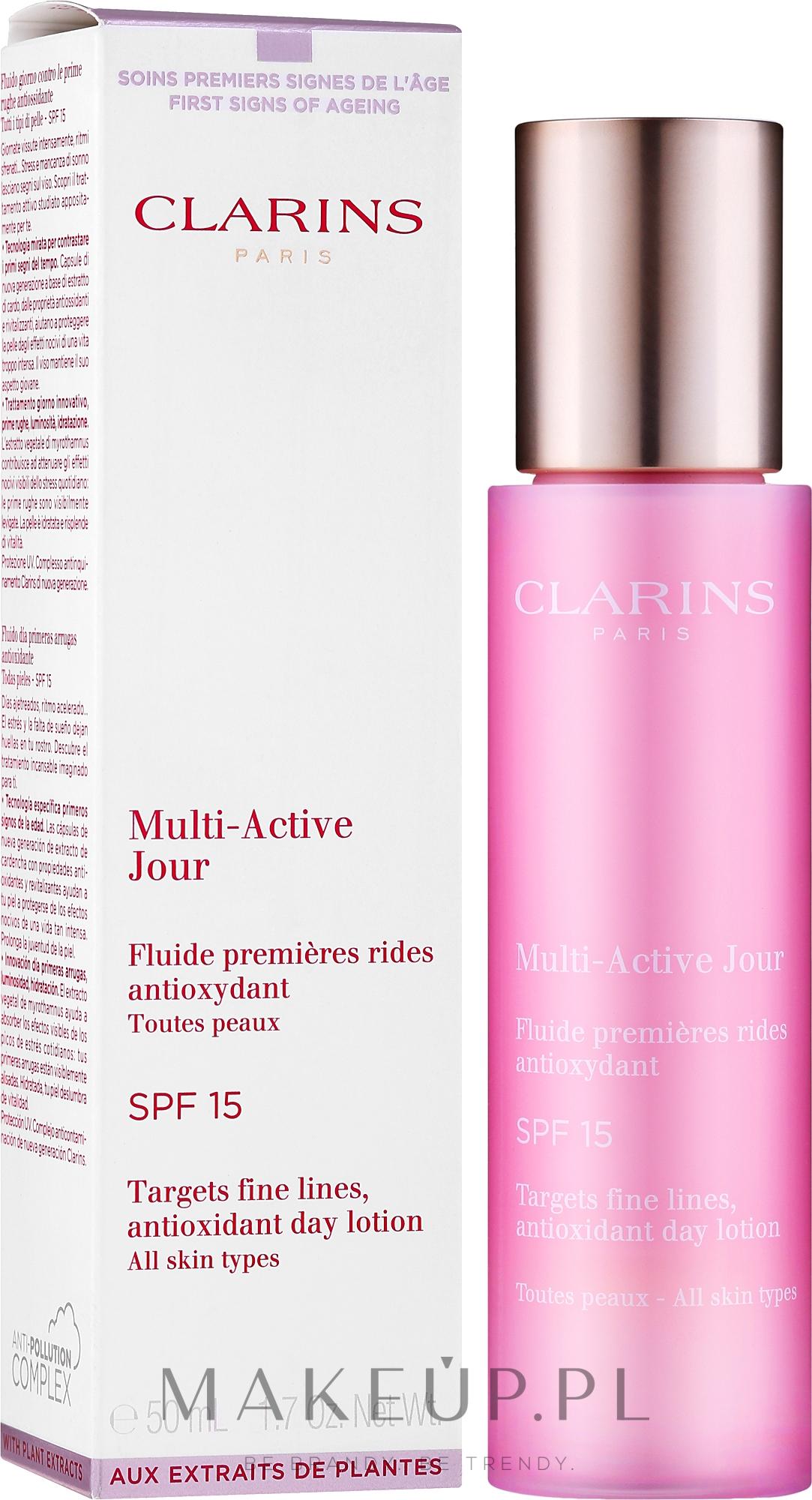 Przeciwzmarszczkowy lotion na dzień SPF 15 - Clarins Multi-Active Antioxidant Day Lotion SPF 15 — фото 50 ml