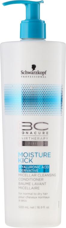 Nawilżająco-oczyszczająca odżywka micelarna do włosów normalnych i suchych - Schwarzkopf Professional BC Bonacure Moisture Kick Micellar Cleansing Conditioner — фото N1