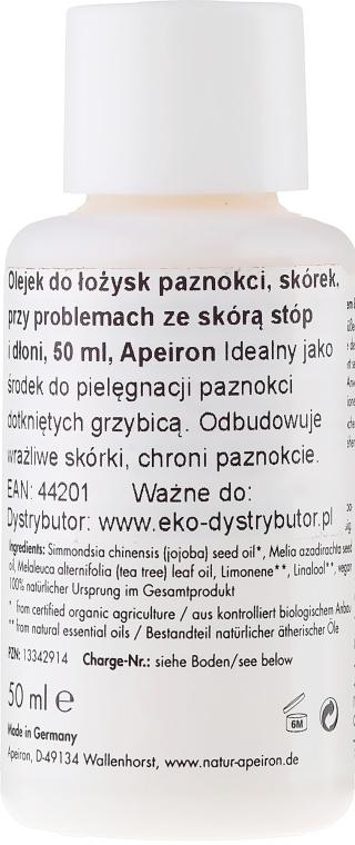 Olejek do rąk i paznokci - Apeiron Nail Bed Oil — фото N2