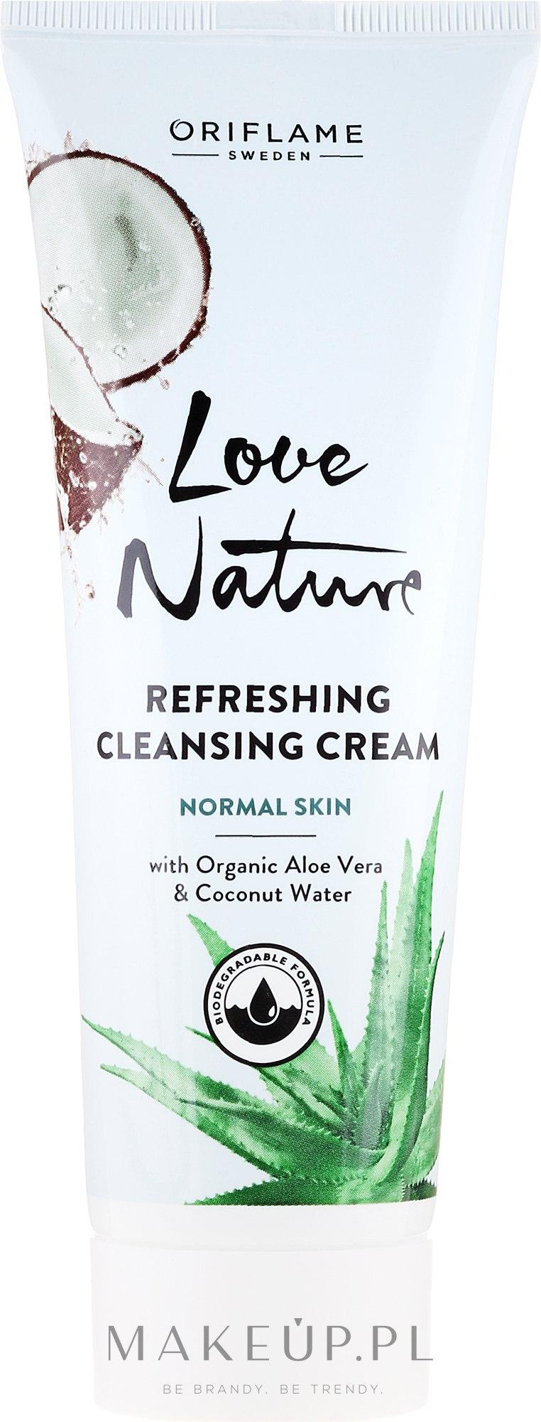 Oczyszczający krem do twarzy z organicznym aloesem i wodą kokosową - Oriflame Love Nature Refreshing Cleansing Cream — фото 125 ml