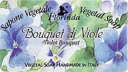 Kup Mydło naturalne w kostce Bukiet fiołków - Florinda Sapone Vegetale Vegetal Soap Violet Bouquet