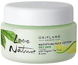 Kup Matująca emulsja do twarzy z olejkiem z drzewa herbacianego i limonką - Oriflame Love Nature Mattifyng Face Lotion
