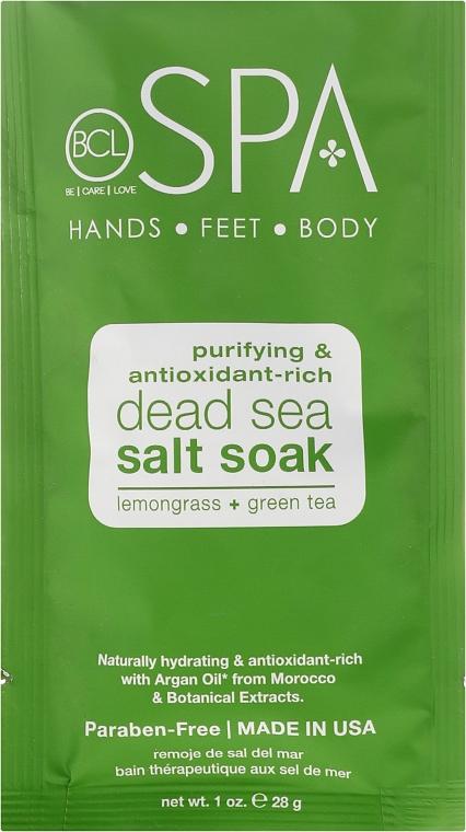 Zestaw do manicure i pedicure - BCL Spa Lemongrass + Green Tea Manicure & Pedicure Set (salt 14 g + scr 28 g + mask 15 ml + cr 15 ml) — фото N2