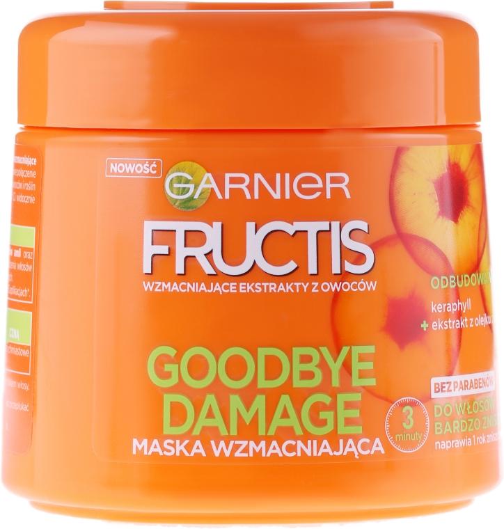 Maska wzmacniająca do włosów bardzo zniszczonych - Garnier Fructis Goodbye Damage Mask
