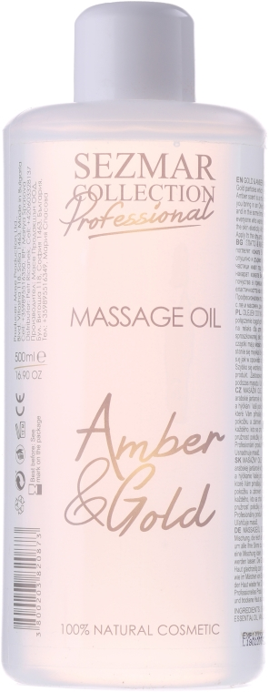 Olejek do masażu Bursztyn i złoto - Sezmar Collection Professional Massage Oil Amber & Gold — фото N1