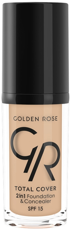 Kryjący podkład i korektor 2 w 1 - Golden Rose Total Cover 2 in 1 Foundation & Concealer
