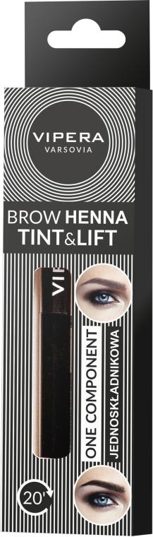 Jednoskładnikowa henna do brwi - Vipera Tint&Lift Brow Henna