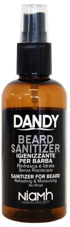 Dezynfekujący spray do brody i wąsów dla mężczyzn - Niamh Hairconcept Dandy Beard Sanitizer Refreshing & Moisturizing — фото N1