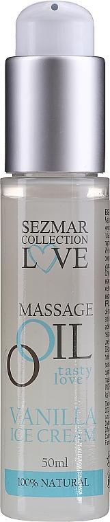 Olejek do masażu Lody waniliowe - Sezmar Collection Love Massage Oil Vanilla Ice Cream — фото N4