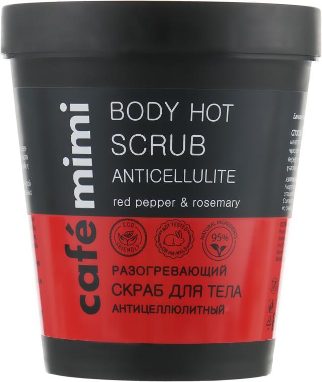 Rozgrzewający antycellulitowy peeling do ciała - Café Mimi Body Hot Scrub Anticellulite