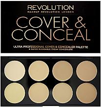 Kup PRZECENA! Paletka korektorów do twarzy - Makeup Revolution Ultra Cover & Conceal Palette *