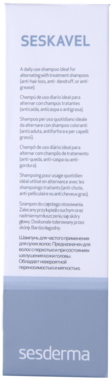 Szampon do częstego stosowania - SesDerma Laboratories Seskavel Frequent Use Shampoo — фото N2