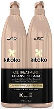 Kup Zestaw - Affinage Kitoko Oil Treatment Cleanser & Balm Litre Duo (h/sham/1000ml + h/balm1000ml)