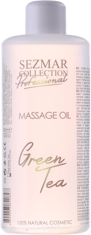 Olejek do masażu Zielona herbata - Sezmar Collection Professional Massage Oil Green Tea — фото N1