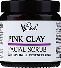 Kup Peeling do twarzy z różową glinką - VCee Pink Clay Facial Scrub Nourishing&Regenerating