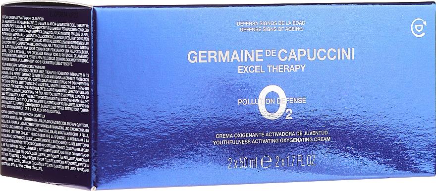 Zestaw - Germaine de Capuccini Excel Therapy O2 Pollution Defense (f/cr/2x50ml) — фото N1
