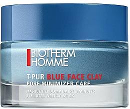 Kup Maska do twarzy zmniejszająca widoczność porów dla mężczyzn - Biotherm Homme T-Pur Blue Face Clay Mask