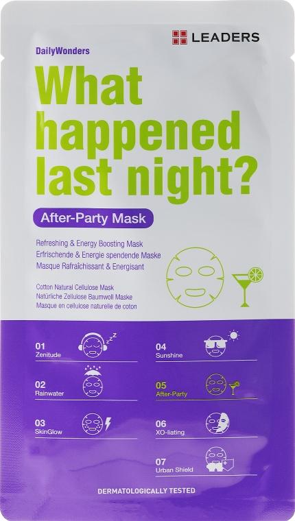 Energetyzująca maseczka do twarzy - Leaders Daily Wonders After Party Mask — фото N1