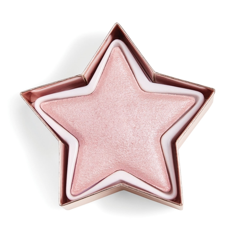 Wypiekany rozświetlacz do twarzy - Makeup Revolution I Heart Revolution Star of the Show Highlighter — фото N3