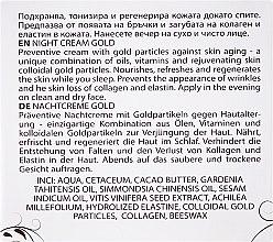 Krem do twarzy na noc ze złotem - Hristina Cosmetics Orient Gold Night Cream — фото N3
