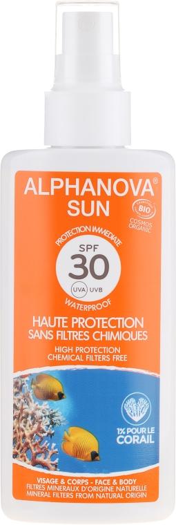 Naturalny spray przeciwsłoneczny SPF 30 - Alphanova Sun Protection Spray — фото N1