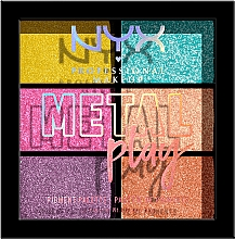 Kup Paletka cieni do powiek - NYX Professional Makeup Metal Play Pressed Pigment Palette
