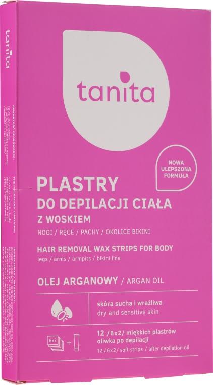 Plastry z woskiem do depilacji ciała do skóry suchej i wrażliwej - Tanita Hair Removal Wax Strips For Body — фото N1