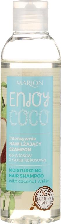 Intensywnie nawilżający szampon do włosów z wodą kokosową - Marion Enjoy Coco