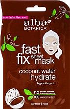 Kup Nawilżająca maseczka do twarzy z kokosem - Alba Botanica Fast Fix Coconut Hydrate Sheet Mask