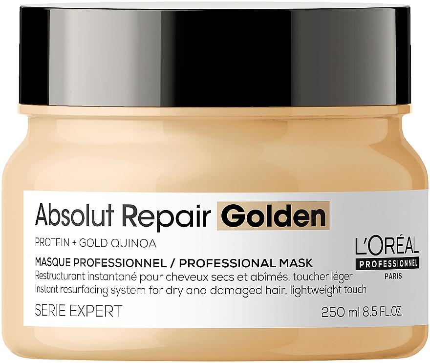 Złota maska naprawcza do włosów - L'Oreal Professionnel Absolut Repair Quinoa +Protein Resurfacing Golden Masque New