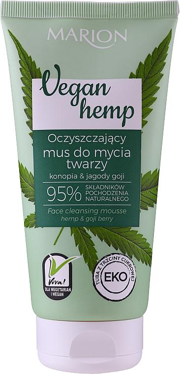 Oczyszczający mus do mycia twarzy - Marion Vegan Hemp Hemp & Goji Face Cleansing Mousse
