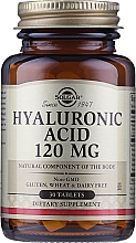 Kup Suplement diety Kwas hialuronowy 120 mg - Solgar Hyaluronic Acid