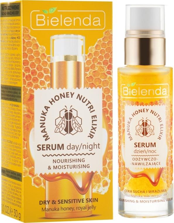 Odżywczo-nawilżające serum do twarzy Miód Manuka i mleczko pszczele - Bielenda Manuka Honey Nutri Elixir Serum